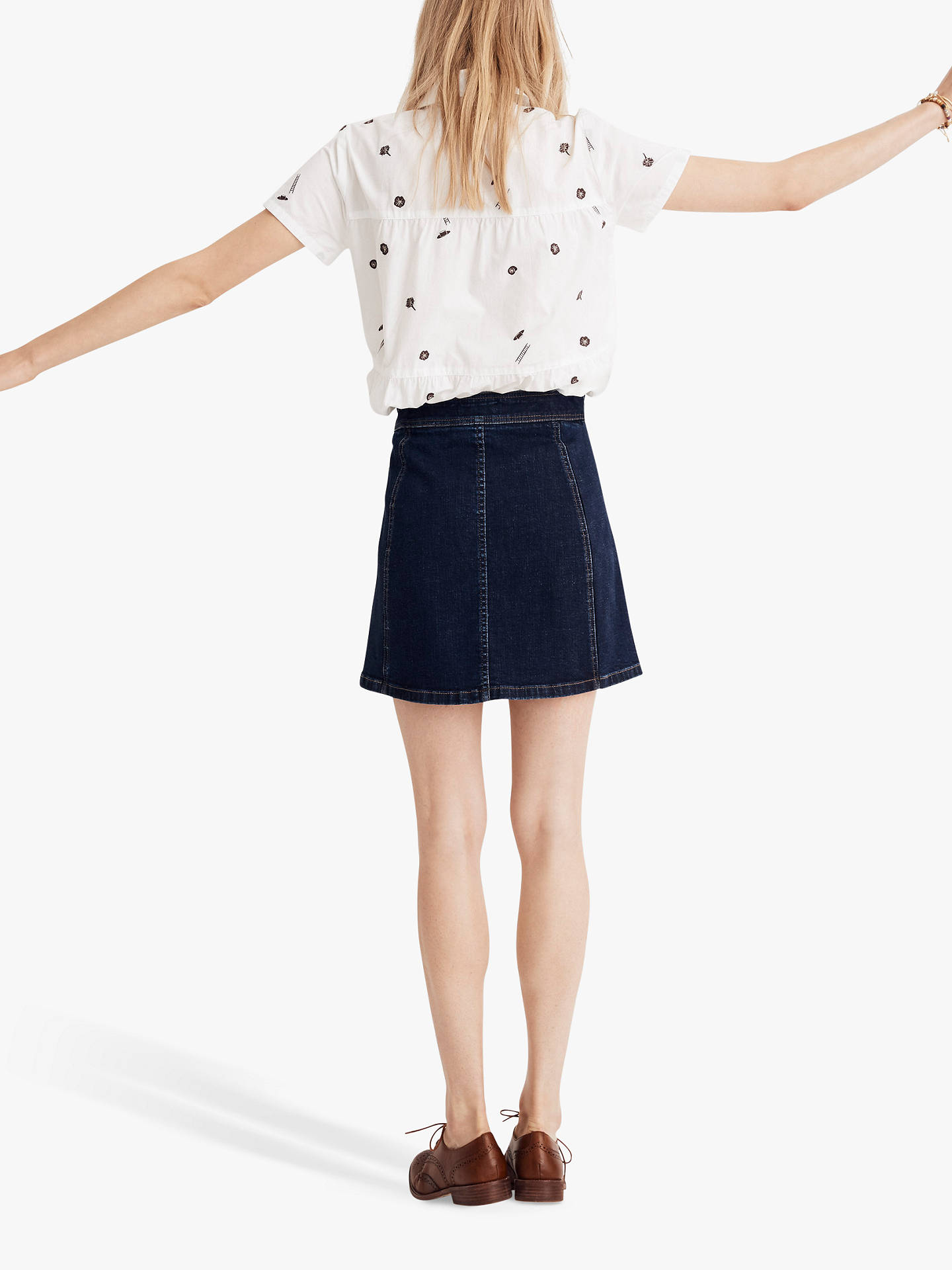 2c8bb4d2f ... Buy Madewell Exposed Button Metropolis Skirt, Eldridge Wash, 2 Online  at johnlewis.com ...