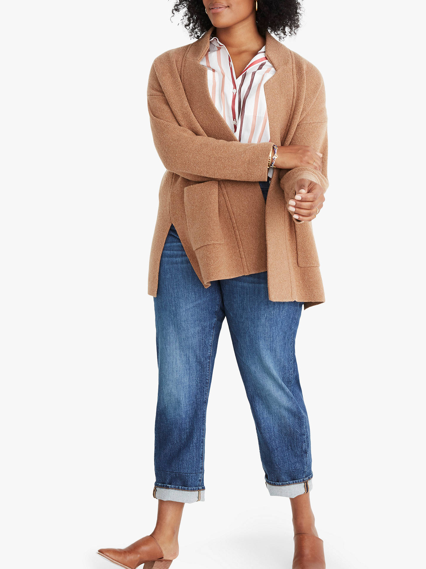 BuyMadewell Hester Merino Wool Rich Sweater Coat, Heather Caramel, S Online at johnlewis.com