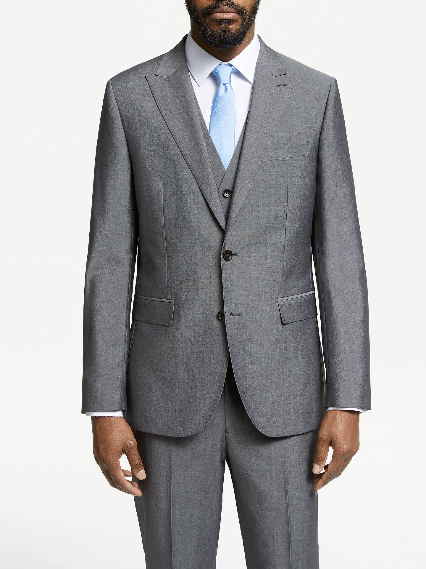 Buy John Lewis & Partners Italian Wool Mohair Suit Jacket, Silver, 44L Online at johnlewis.com