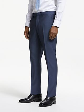 John Lewis & Partners Italian Wool Mohair Tailored Suit Trousers, Blue