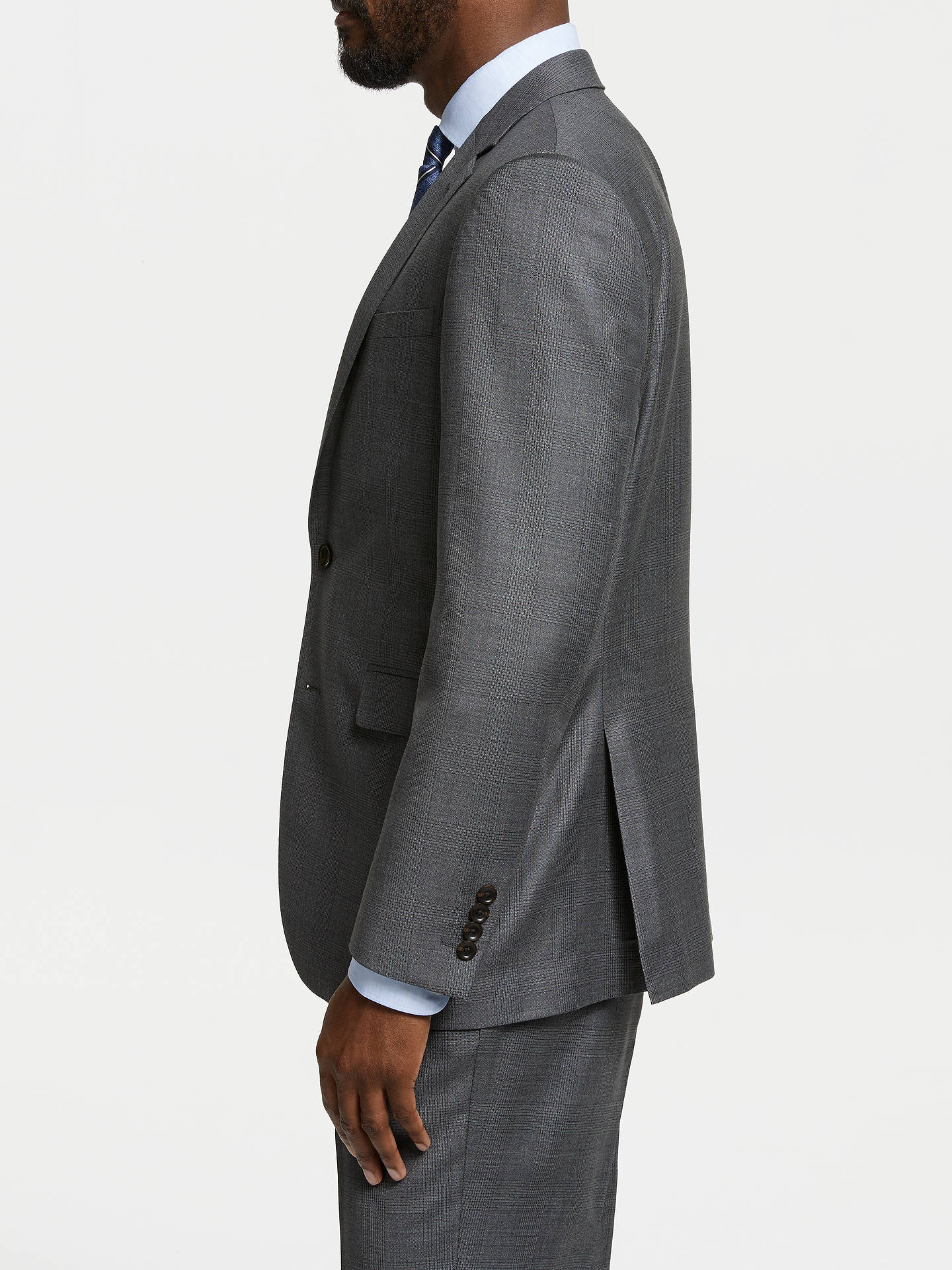 21d492938f John Lewis & Partners Zegna Wool Tailored Fit Check Suit Jacket, Grey