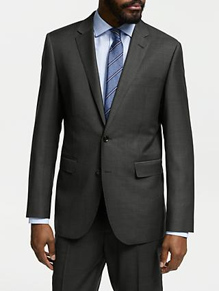 John Lewis & Partners Zegna Wool Tailored Fit Suit Jacket, Charcoal