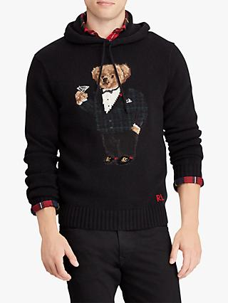 Polo Ralph Lauren Long Sleeve Party Bear Jumper, Polo Black