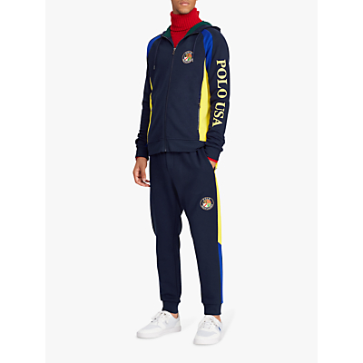 Polo Ralph Lauren Apres Ski Hoodie, Navy/Yellow