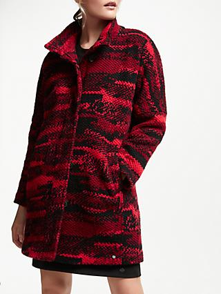 Numph Libertina Relaxed Coat, Flame Scarlet