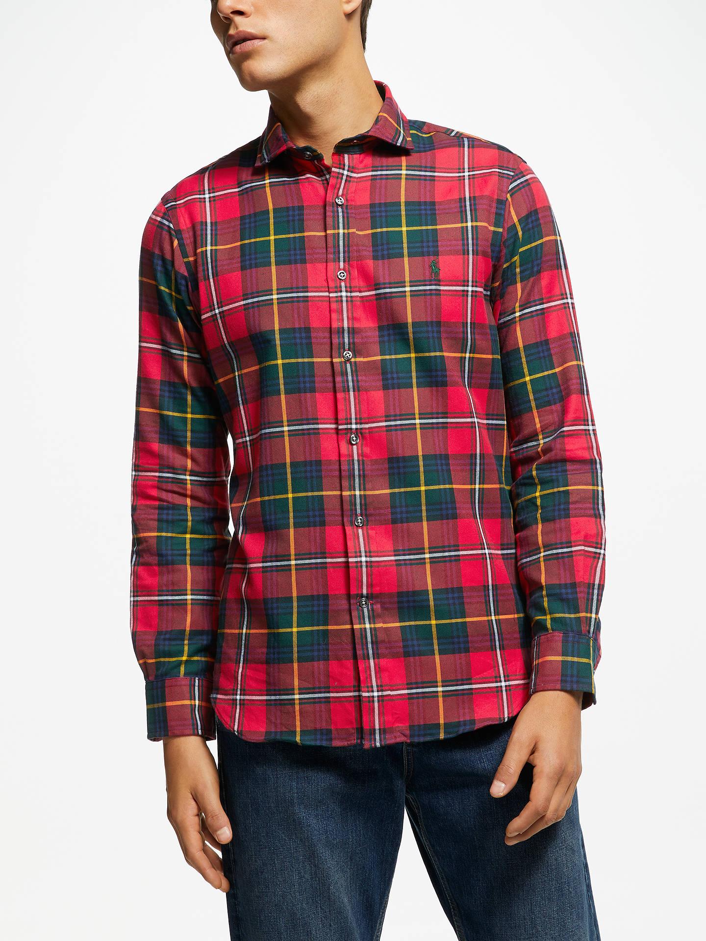 Polo Ralph Lauren Long Sleeve Slim Fit Check Shirt at John Lewis ... 5189458ba7f0e