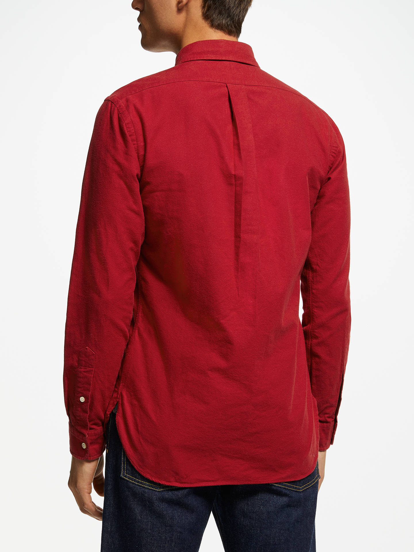 Buy Polo Ralph Lauren Brushed Cotton Shirt, Eaton Red, S Online at johnlewis.com