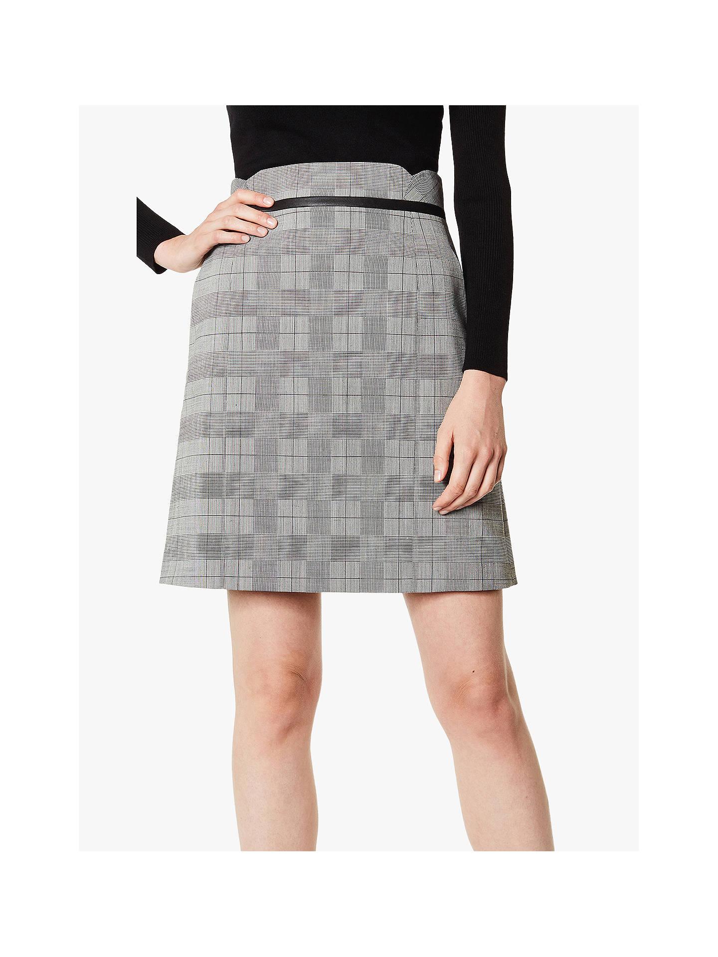 9225eb2a1 Buy Karen Millen Checked Mini Skirt, Grey/Multi, 6 Online at johnlewis.