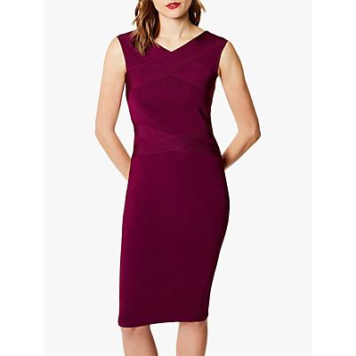 Karen Millen Bandage Knit Midi Dress, Purple