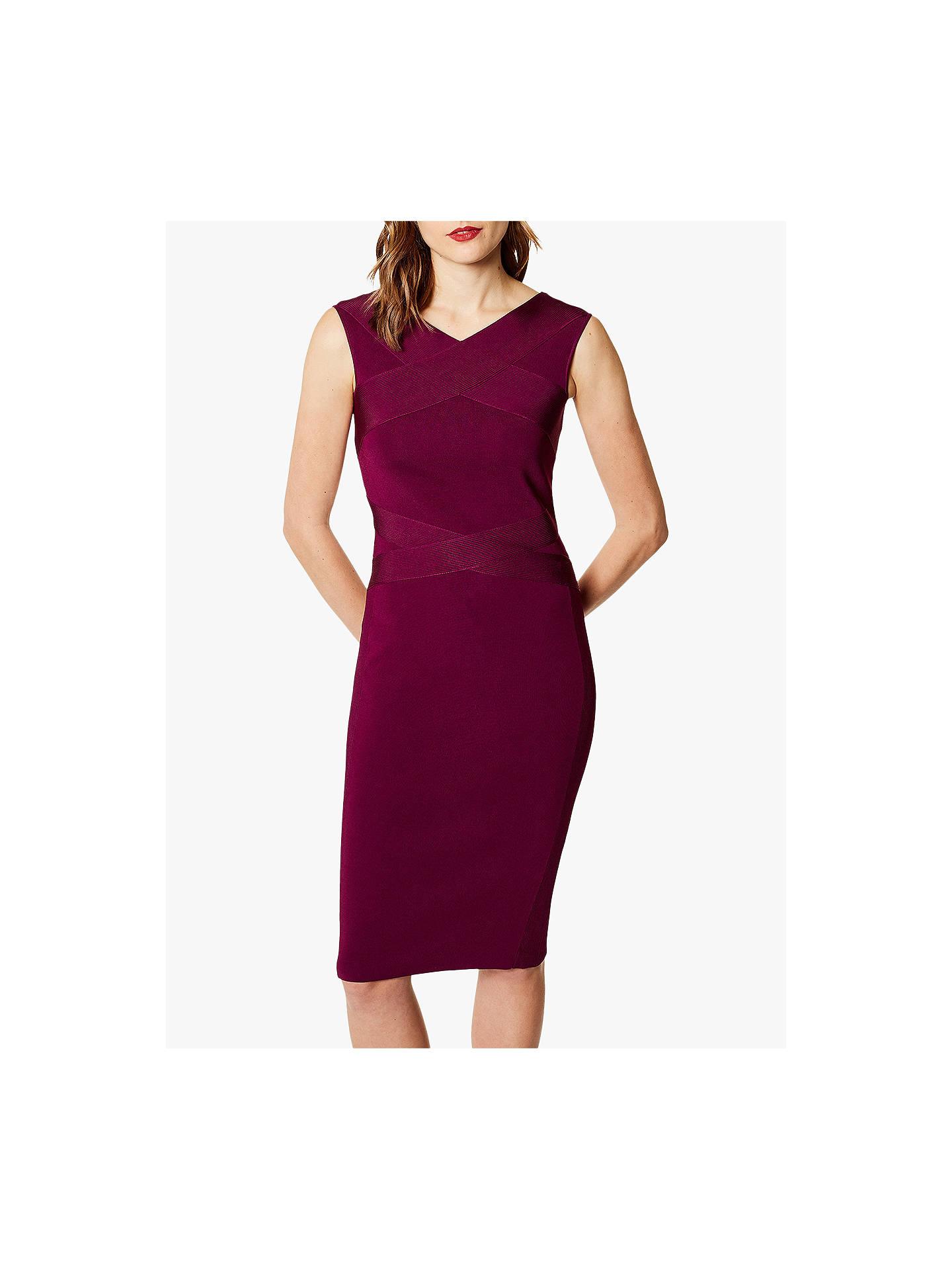 6a802237a21a5c Buy Karen Millen Bandage Knit Midi Dress, Purple, M Online at johnlewis.com  ...