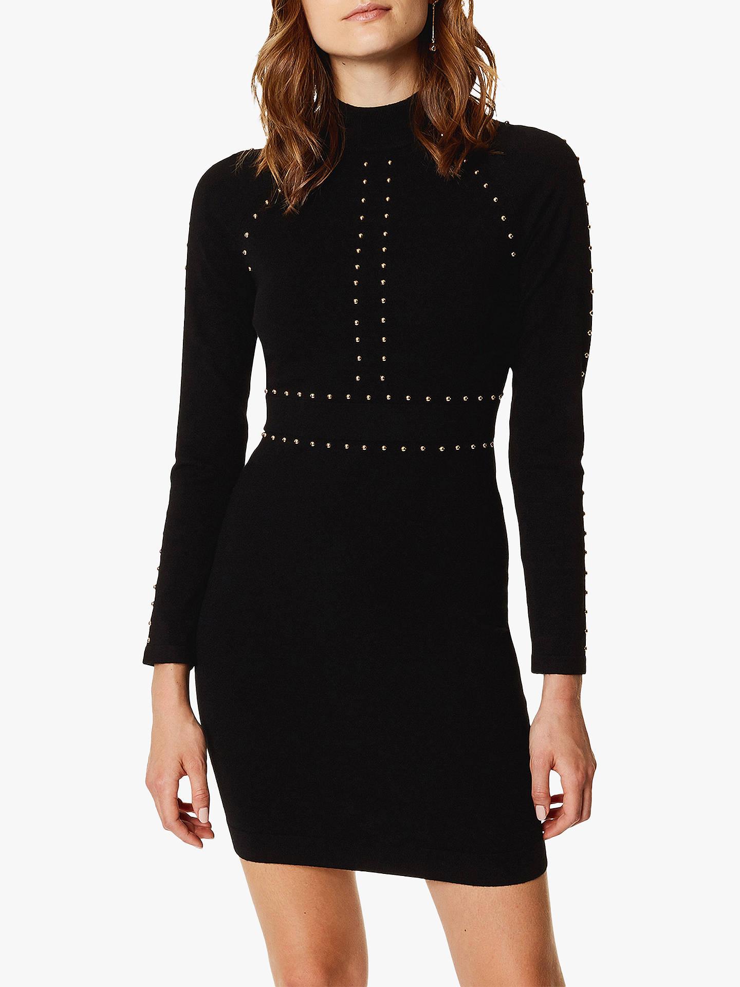 Karen millen black bodycon dress online sets