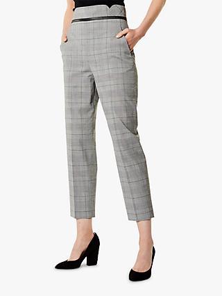 422b22d8016 Karen Millen Checked Tailored Trousers