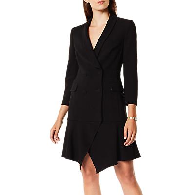 Karen Millen Asymmetric Tuxedo Dress, Black