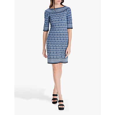 Max Studio Half Sleeve Kehlani Jersey Dress, Navy/Blue