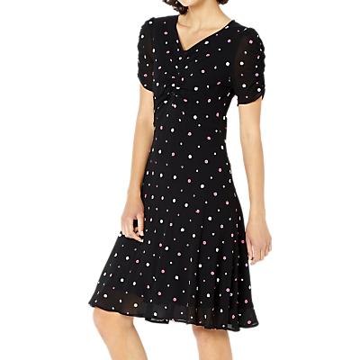 Ghost Lizzie Embroidered Georgette Lizzie Dress, Black
