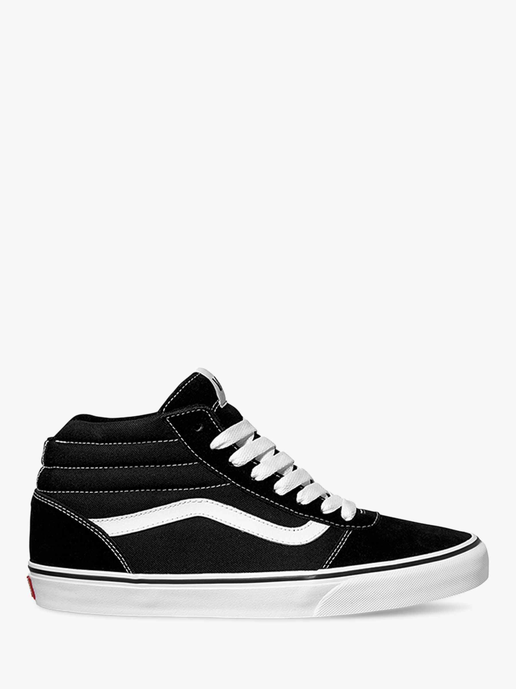 1bdeb6c34 Vans Ward Canvas High Top Trainers, Black at John Lewis & Partners