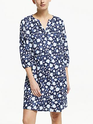 Collection WEEKEND by John Lewis Lavinia Linen Smock Dress, Navy