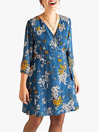 d4da57f1ab6 Yumi Patterned Wrap Dress