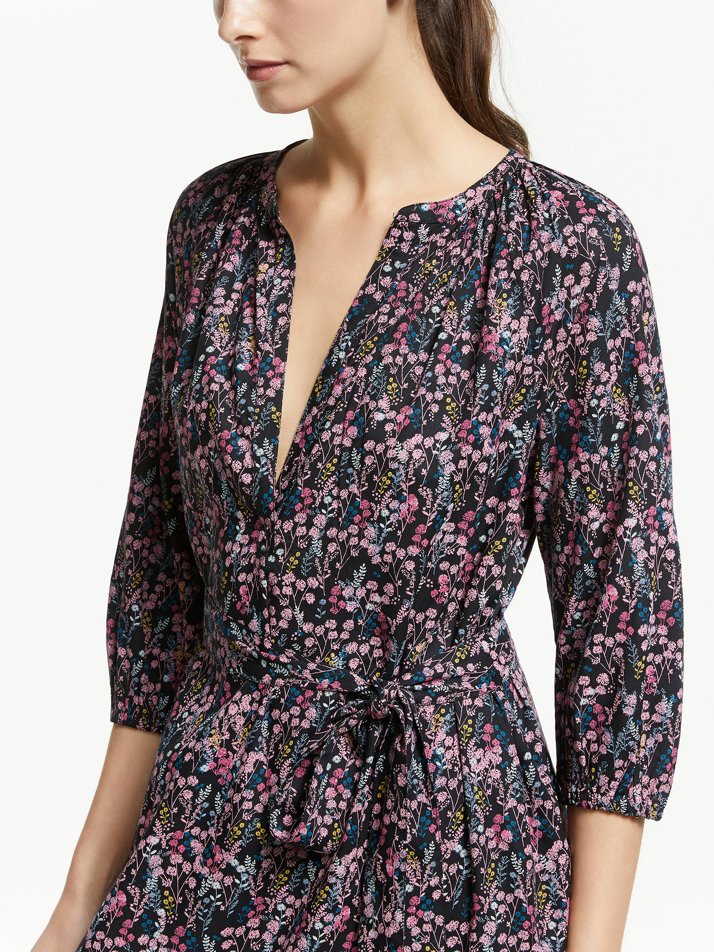 BuyCollection WEEKEND by John Lewis Dahlia Floral Smock Dress, Multi, 16 Online at johnlewis.com
