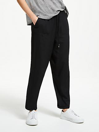 Collection WEEKEND by John Lewis Esy Drawstring Chino Trousers, Black