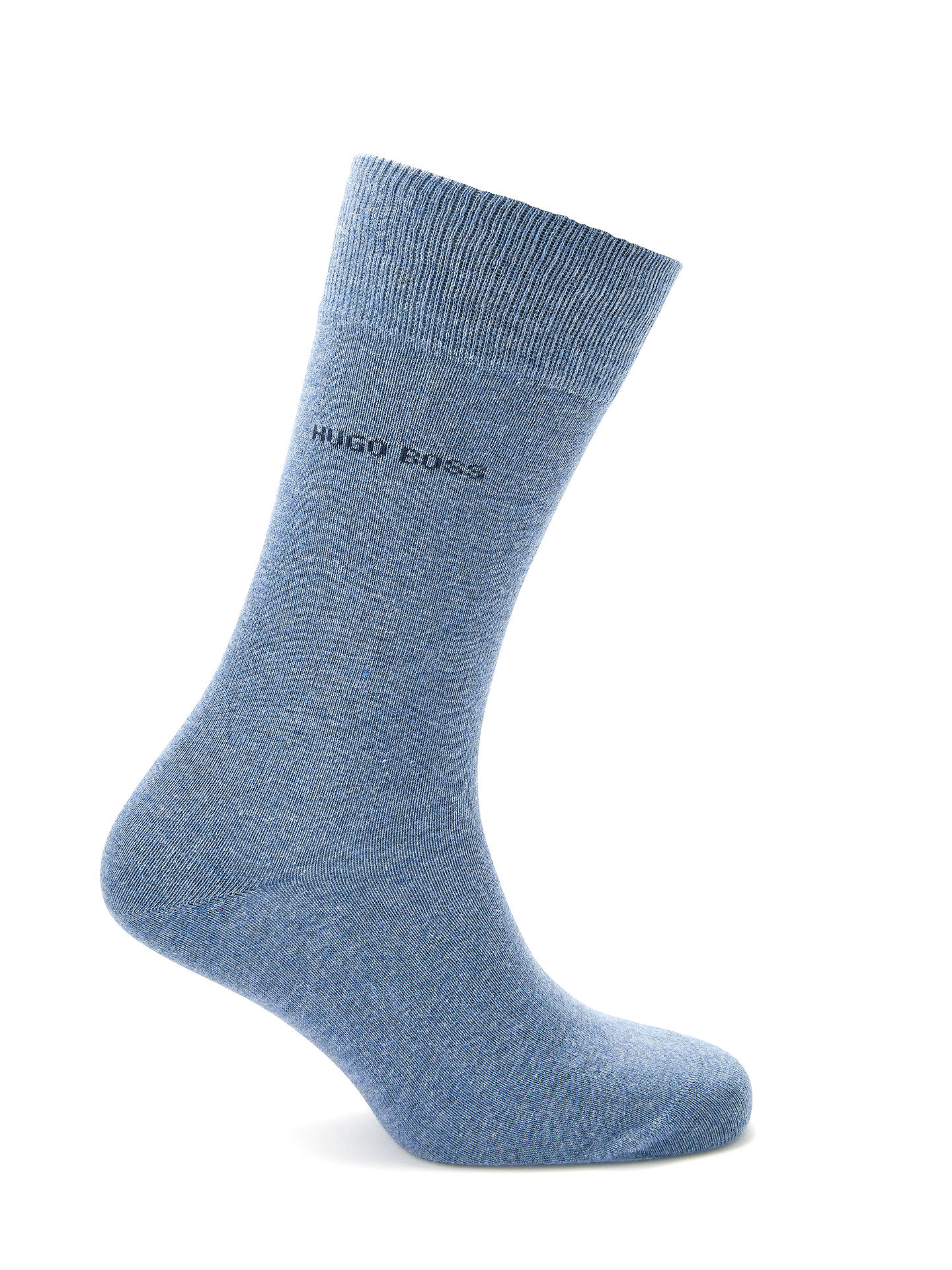 BuyBOSS RS Uni Plain Socks, Pack of 2, Light Blue, S/M Online at johnlewis.com