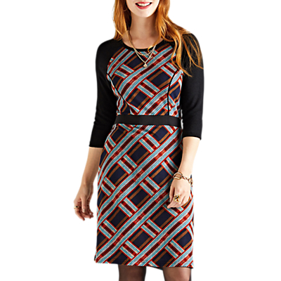 Yumi Bodycon Check Shift Dress, Multi