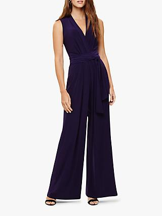 Phase Eight Tia Belted Jumpsuit, Grape