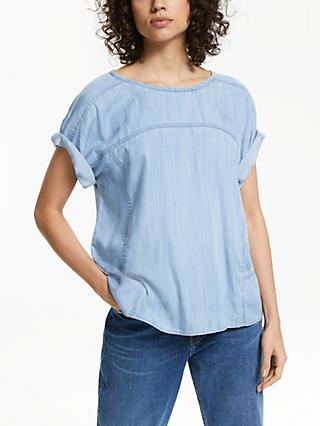 AND/OR Bianca Lyocell Easy T-Shirt, Blue