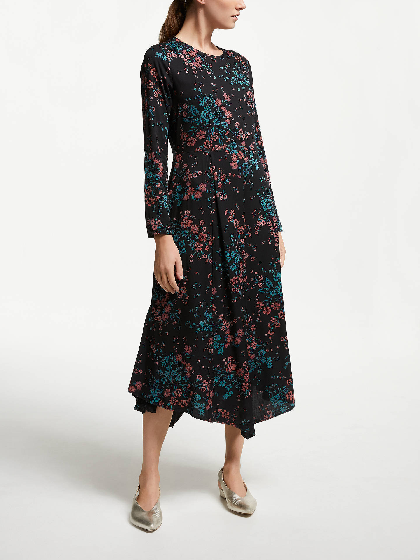 Buy ARMEDANGELS Shadow Flower Maxi Dress, Black, XS Online at johnlewis.com