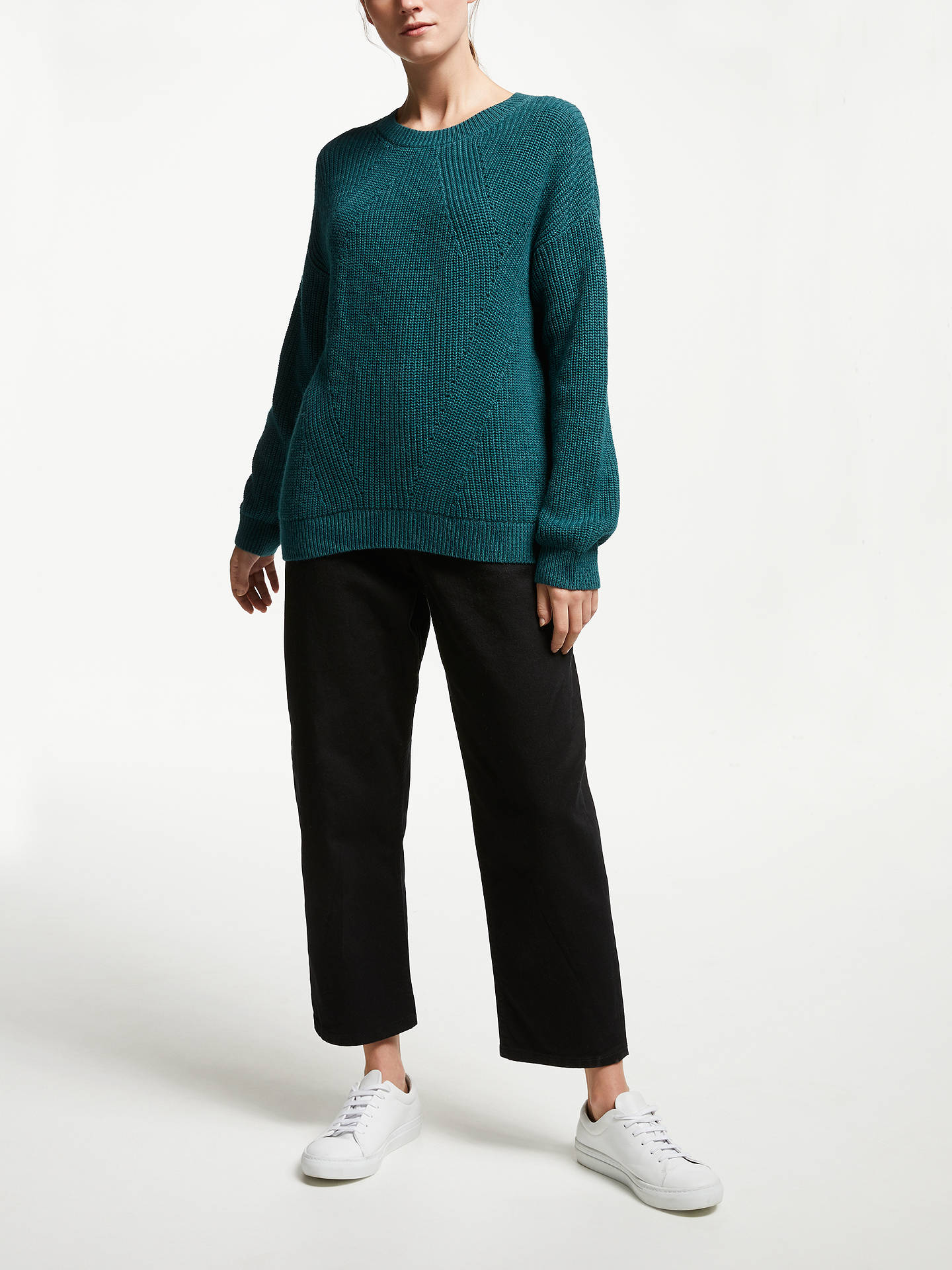 Buy ARMEDANGELS Melin Jumper, Petrol, M Online at johnlewis.com