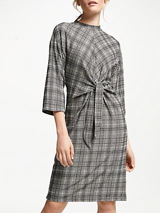 Numph Emeny Jersey Dress, Grey Check