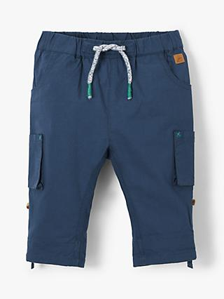 John Lewis & Partners Baby Roll Up Pocket Trousers, Blue