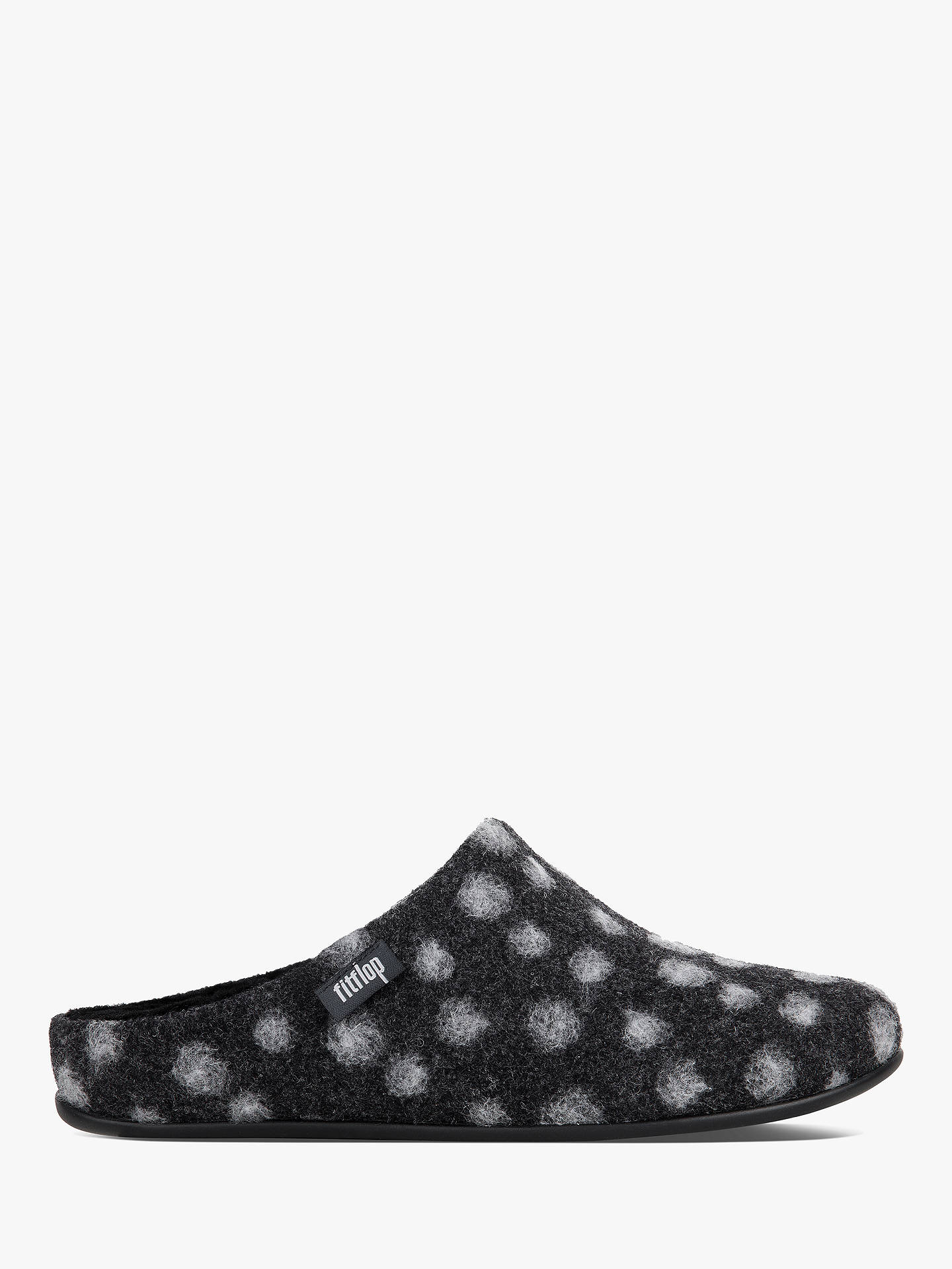 7667102cb0 Fitflop Chrissie Spot Print Woollen Slippers, Charcoal at John Lewis ...