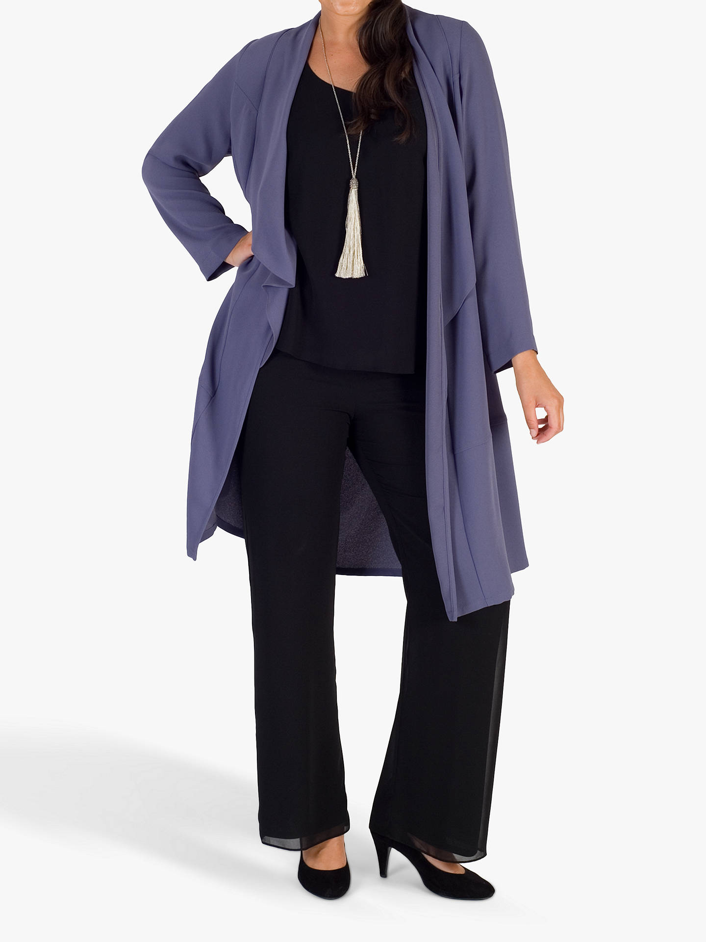 BuyChesca Crepe Coat, Hyacinth, 16 Online at johnlewis.com