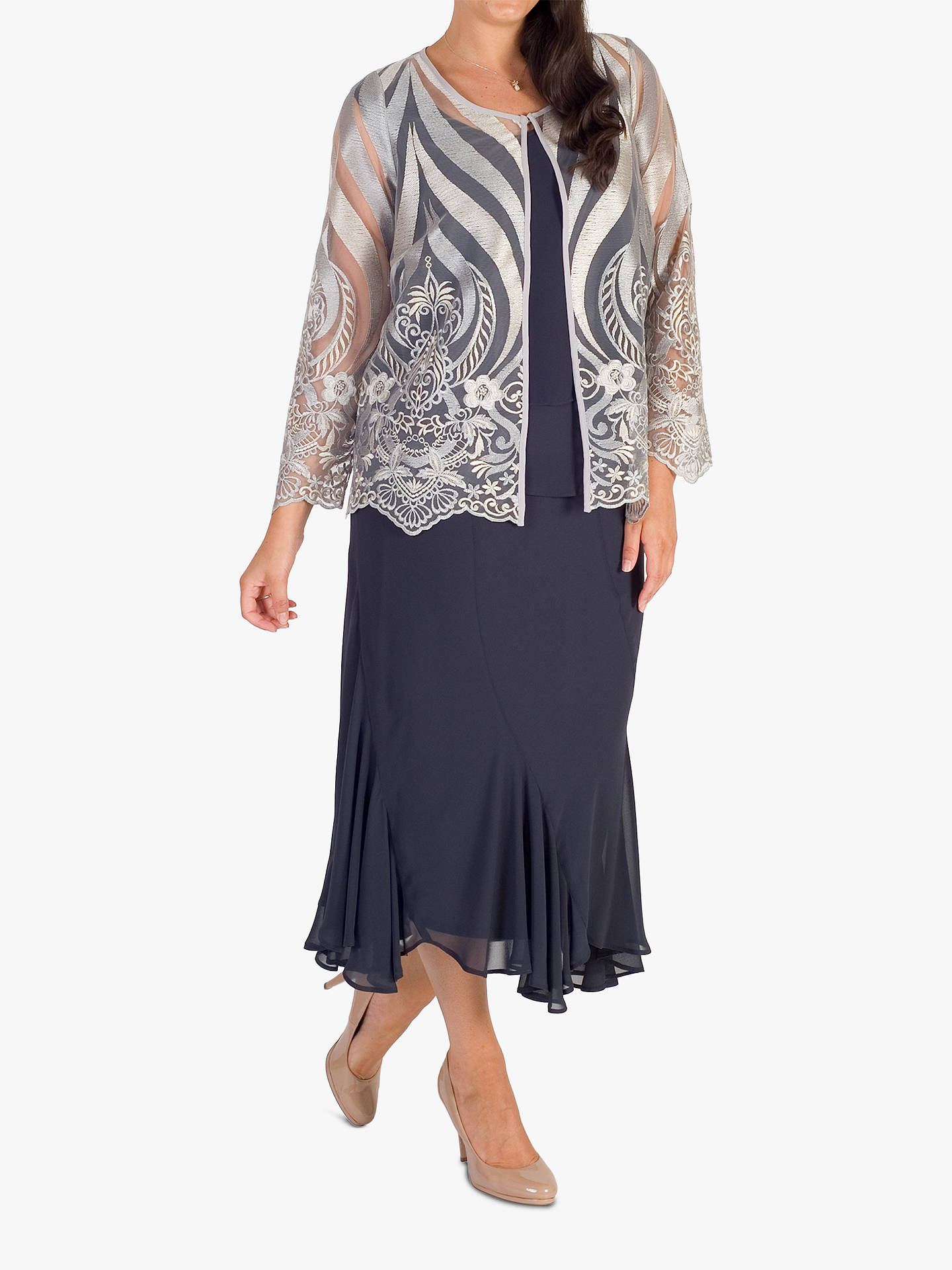BuyChesca Wrap Top, Pewter, 14 Online at johnlewis.com