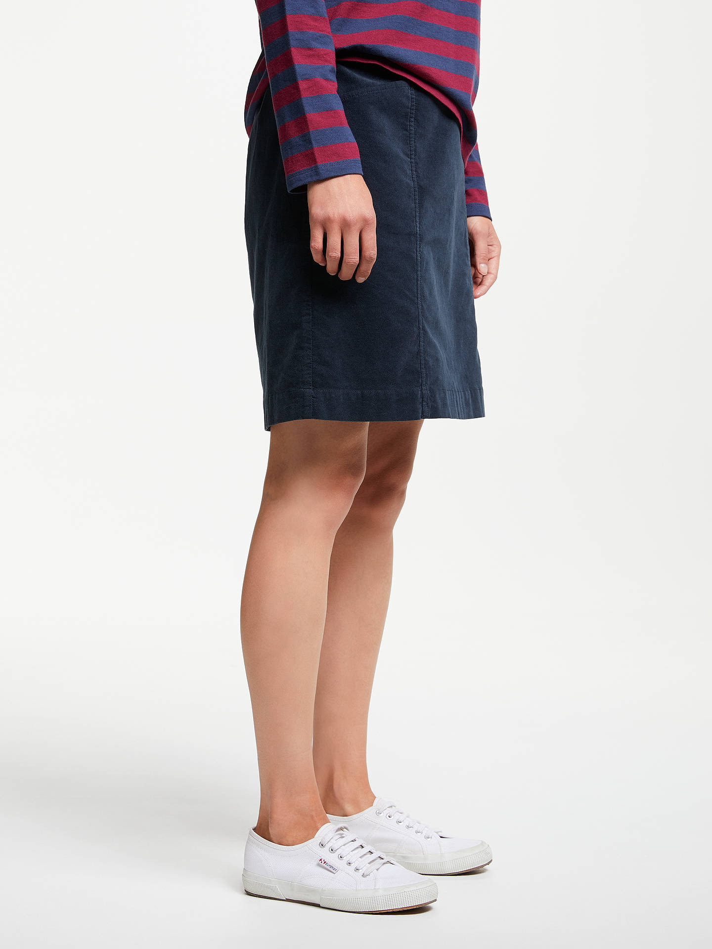 Buy Seasalt Wave Worn Skirt, Fathom, 8 Online at johnlewis.com