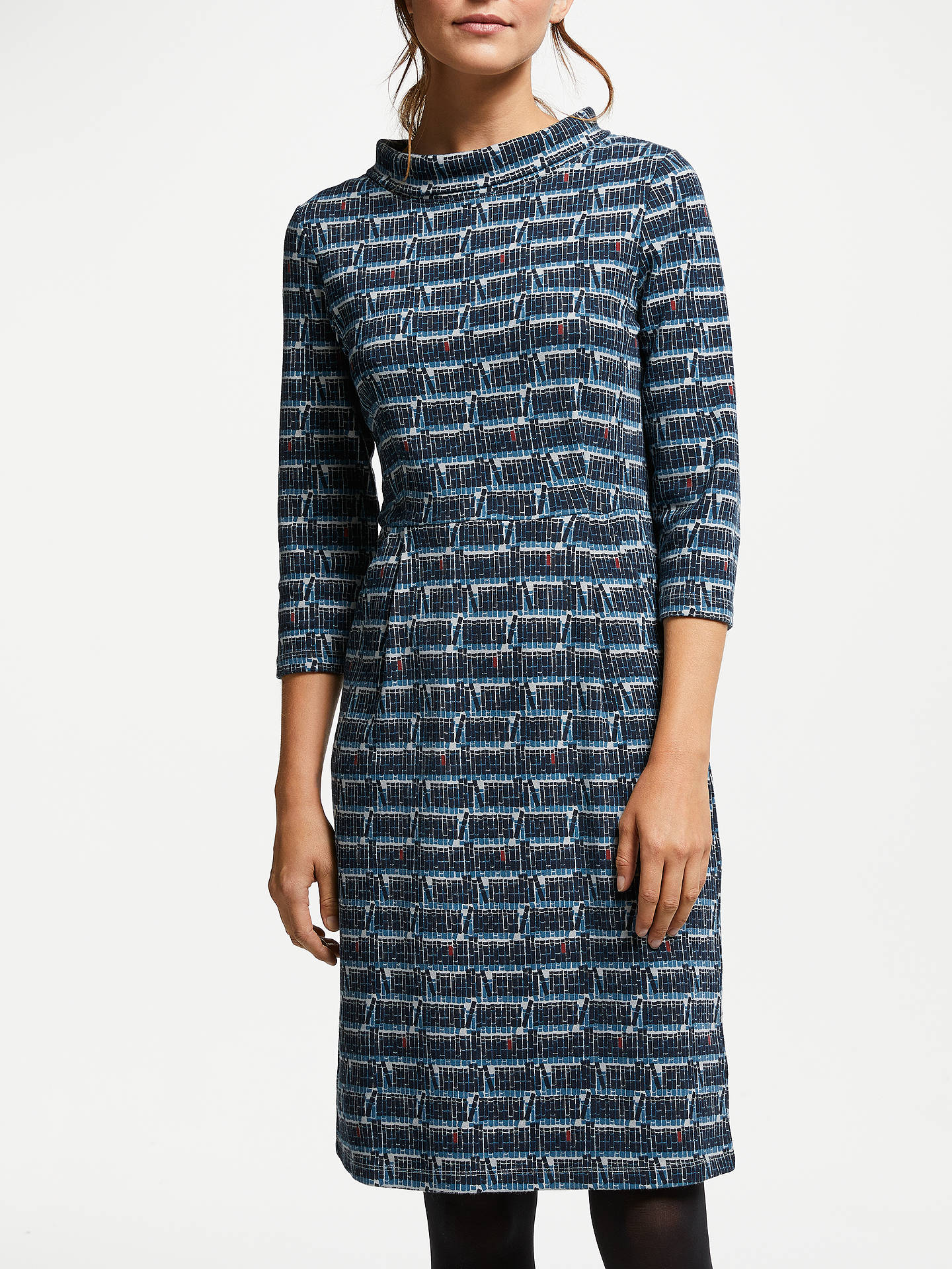 Buy Seasalt Cleats Printed Jersey Dress, Bookshelf Pebble, 8 Online at johnlewis.com