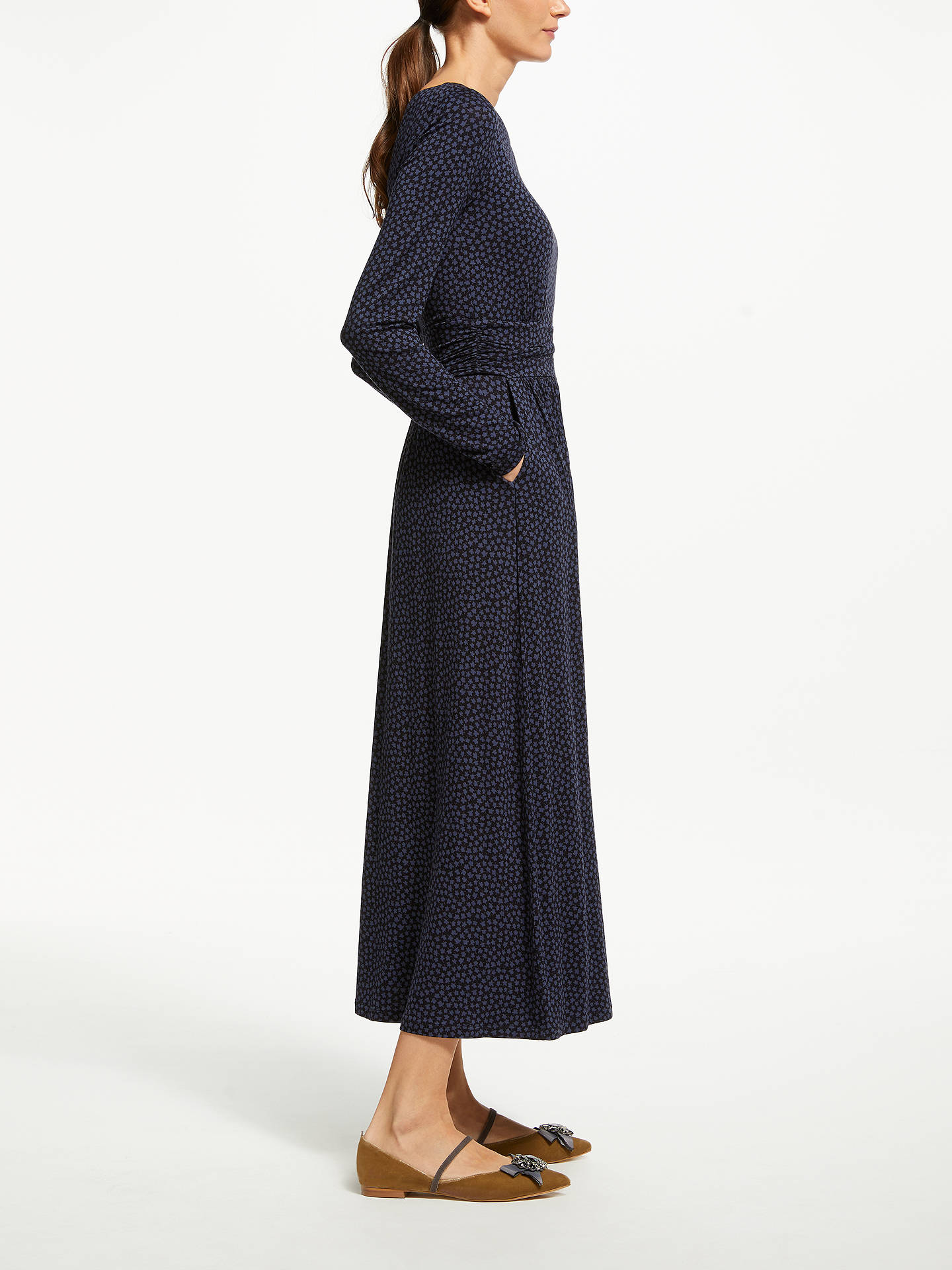 Buy Boden Lucille Jersey Dress, Black, 8 Online at johnlewis.com