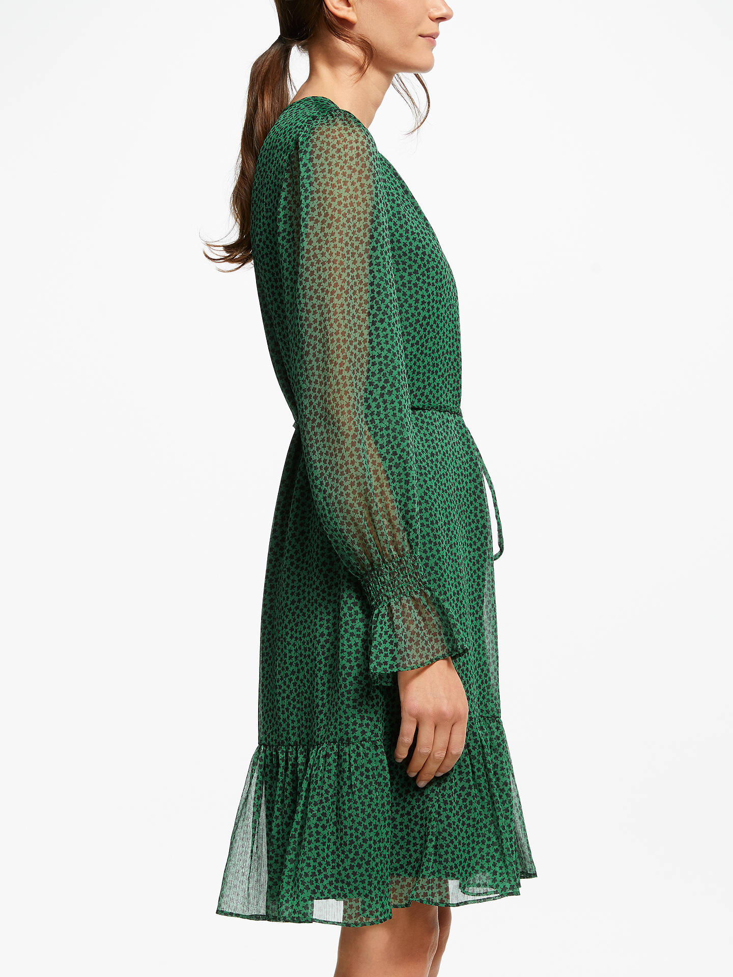 BuyBoden Libby Dress, Amazon Green Petal, 18 Online at johnlewis.com