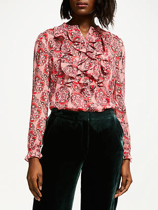 Buy Boden Amalie Blouse, Blush, 8 Online at johnlewis.com