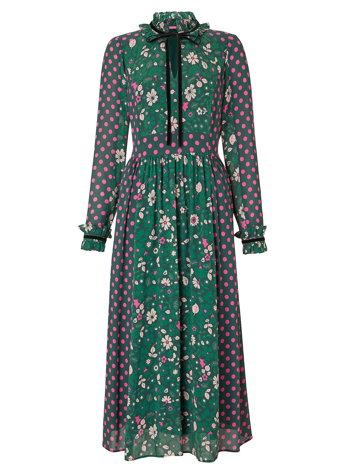 BuyBoden Cecilla Midi Dress, Chatsworth Green, 16 Online at johnlewis.com