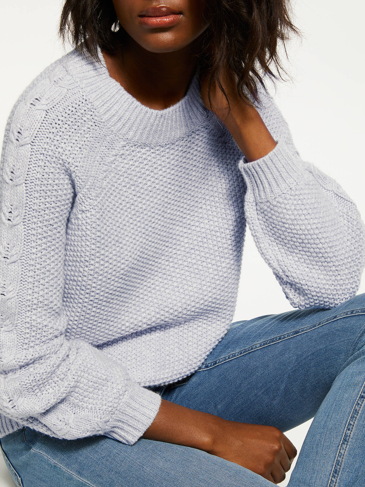 BuyBoden Kendal Knit Jumper, Silver, M Online at johnlewis.com