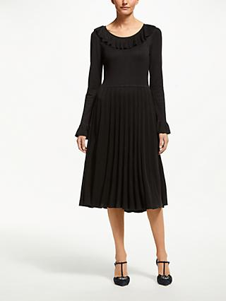 Boden Lavinia Pleated Dress, Black