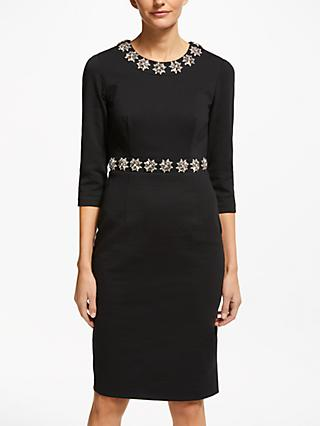 Boden Matilda Embellished Dress, Black
