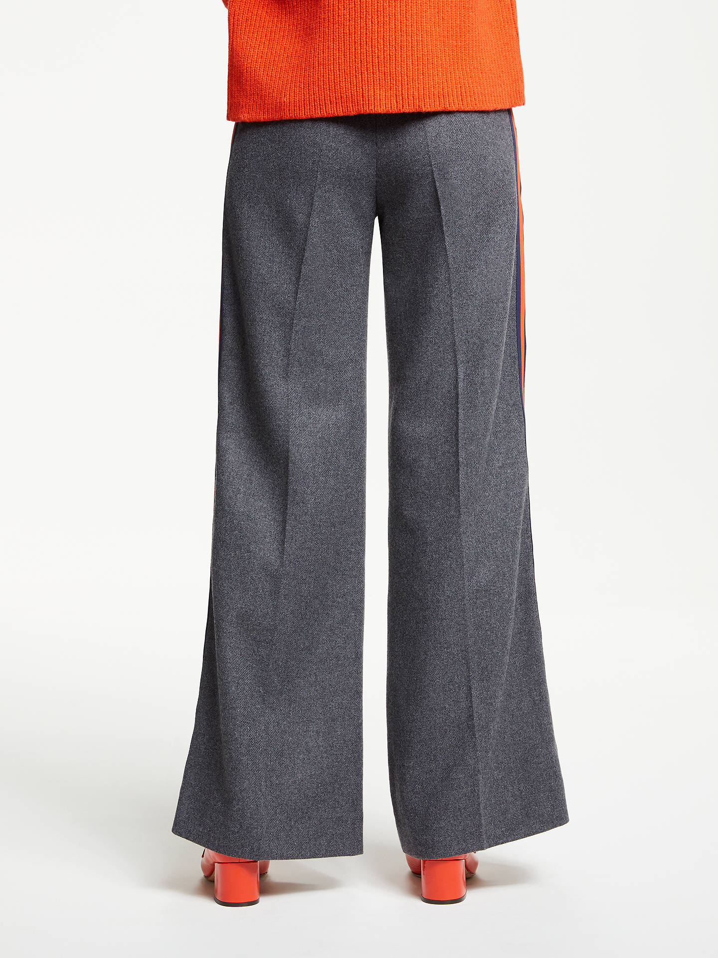 BuyBoden Side Stripe Trousers, Charcoal, 8 Online at johnlewis.com