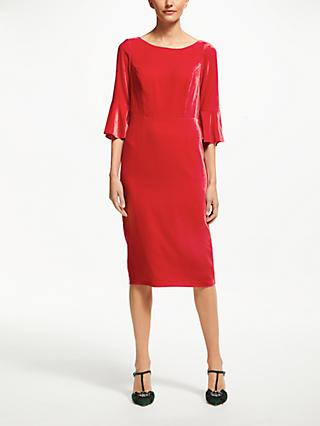 Boden Aubrey Velvet Flute Sleeve Dress