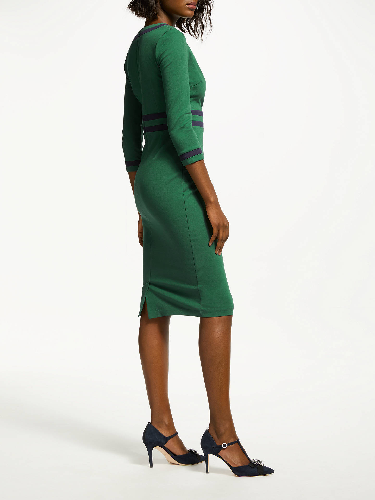 BuyBoden Nellie Ponte Pencil Dress, Amazon Green, 12 Online at johnlewis.com