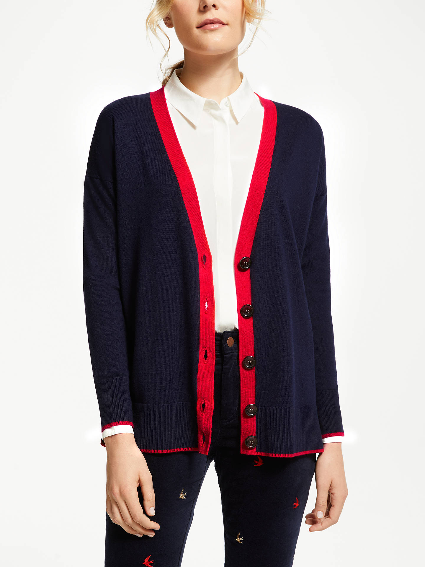 Buy Boden Corinne Cardigan, Navy, S Online at johnlewis.com
