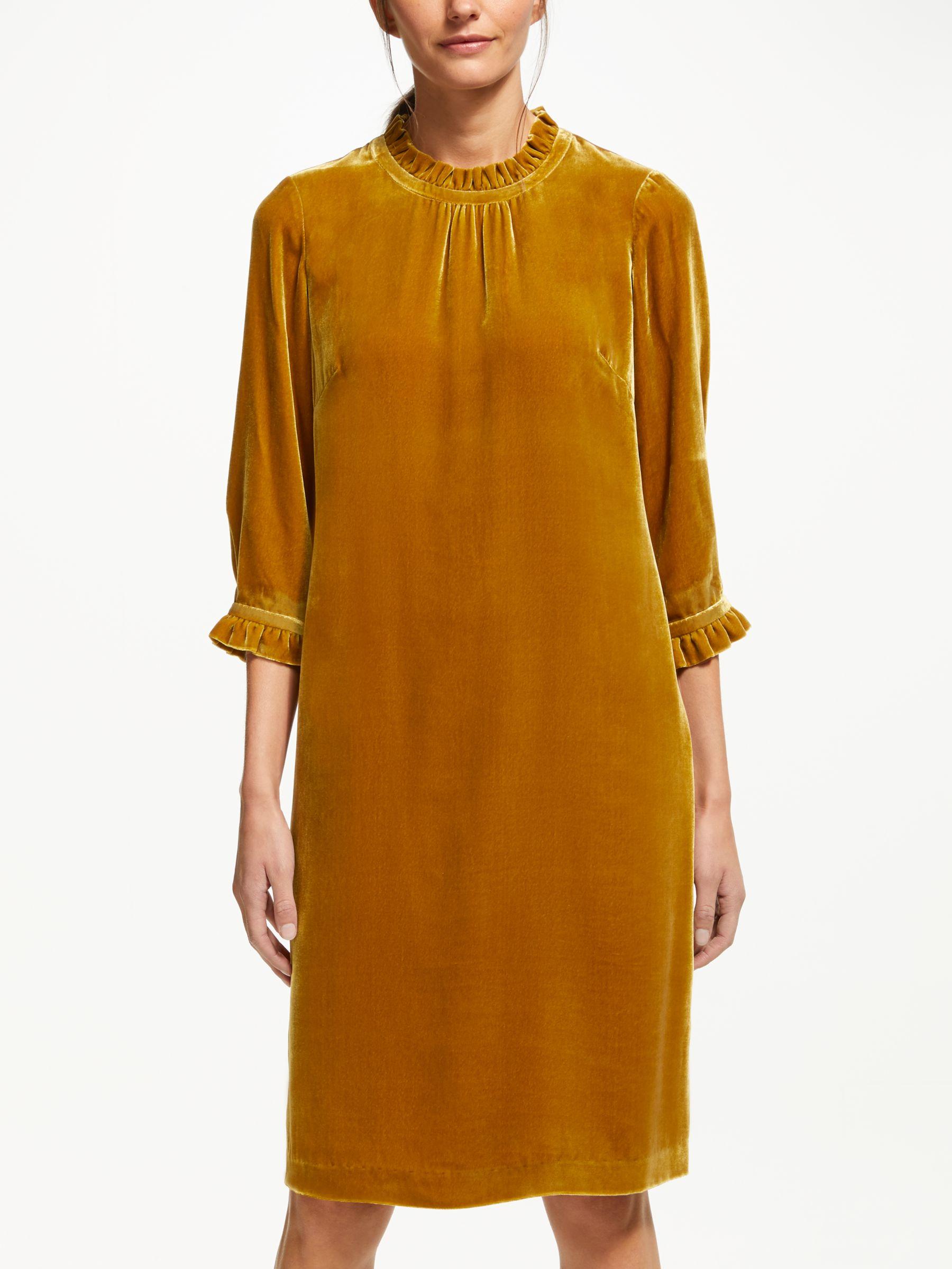 1e5c9b1632 Boden Adora Velvet Ruffle Cuff Dress
