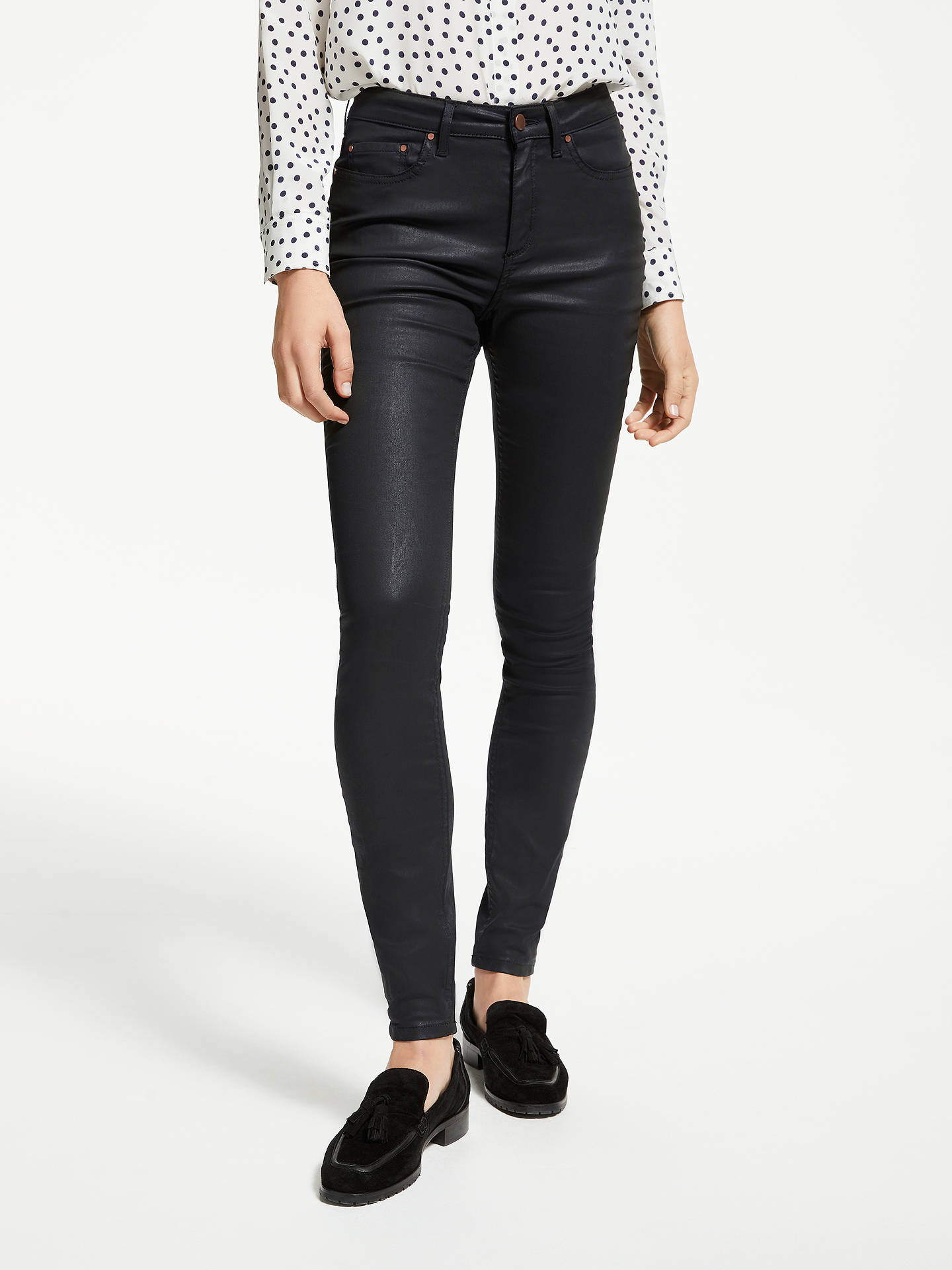 Buy Boden Mayfair Skinny Jeans, Black Wax, 12 Online at johnlewis.com